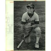 1986 Press Photo St. Gerard High baseball player James Benites - sas10222