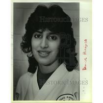 1985 Press Photo Karate athlete Denise Hinojosa - sas12671