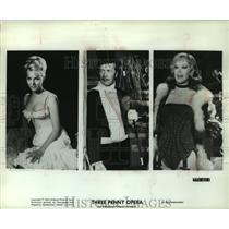 """1963 Press Photo Curt Jurgens & other stars of """"Three Penny Opera"""" film"""