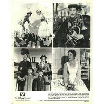 "1964 Press Photo Julie Andrews & Dick Van Dyke star in ""Mary Poppins"""