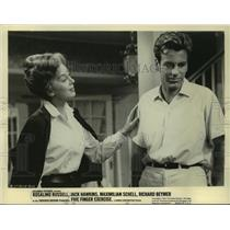 1962 Press Photo Rosalind Russell and Maximilian Schell in Five Finger Exercise