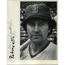 1975 Press Photo Boston Red Sox baseball player, Rico Petrocelli - mjt04606