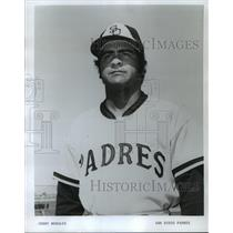 1973 Press Photo Jerry Morales of the San Diego Padres baseball team - mjt05014