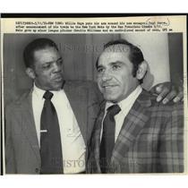 1972 Press Photo New York Mets - Willie Mays and Yogi Berra - mjt05625