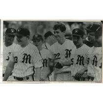 1993 Press Photo Montgomery Bell team uses Milwaukee Brewers logo letters M & B