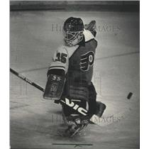 1986 Press Photo Bob Froese, Milwaukee Admiral hockey player in action