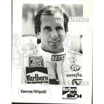 1985 Press Photo Emerson Fittipaldi part of the Marlboro World Championship Team