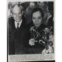 1968 Press Photo .Nguyen Thi Binh and Xuan Thuy of Vietnam at Paris peace talks