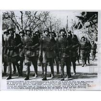 1955 Press Photo Argentine Infantry Units involved in Revolution, Argentina