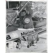 1984 Press Photo Ron Bohlender Kayak Slalom Champion - RRV09661