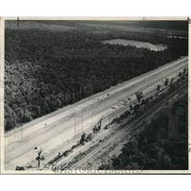 1961 Press Photo Interstate 59 crosses Honey Island Swamp - nob50192
