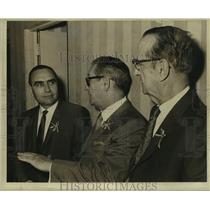 Press Photo French Officials in Louisiana gather for a conference - nob55983