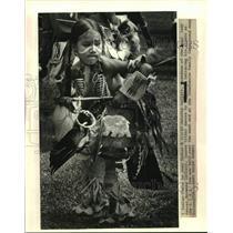 1987 Press Photo Antoine LeClair- L.I.H.A. Pow Wow- Tchefuncte Family Campground