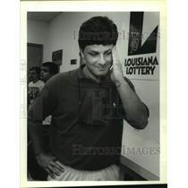 1991 Press Photo Myles D. Lipar wins $5,000 in the Lousiana Lottery - nob56579