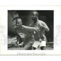 1994 Press Photo Louisiana Special Olympic St. Michael's men's 4x100 relay race
