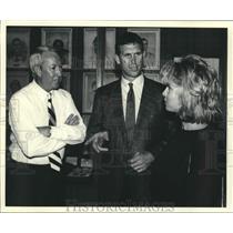 1999 Press Photo Jerry Pierce, Bert and Danni Jones, La. Sports Hall of Fame