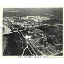 Press Photo Aerial view of Louisiana Power and Light, Waterford III - nob58928