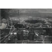 Press Photo Aerial view of Louisiana Power and Light, Waterford III - nob58930
