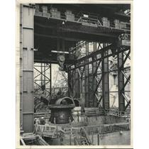 1951 Press Photo Hydroelectric Power of Hungry Horse Dam Moves Closer This Week