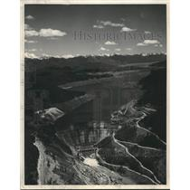 1952 Press Photo Hungry Horse Dam to Store 3,500,000 Water Per Acre-Feet