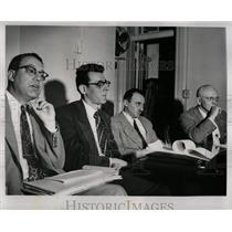 1954 Press Photo School Board Hearing Communism Detroit - RRW90683