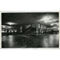 1968 Press Photo Baggage claim area at Houston Int. Airport during construction