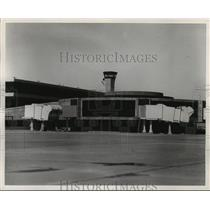 1969 Press Photo View of airport from runway at Houston Intercontinental