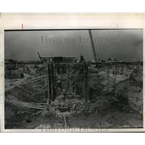 1970 Press Photo Underground tunnel under construction at Houston Int. Airport