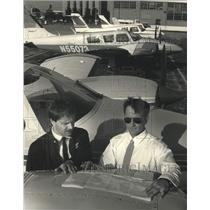1992 Press Photo Tracy & Dan Weber, Milwaukee General Aviation, Mitchell Airport