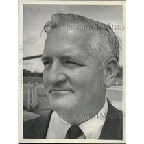 1969 Press Photo John Webster, Glens Falls, New York - Warren County airport mgr