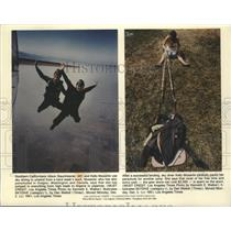 1991 Press Photo California Sky divers Alison Baumhesner and Kelly Musante