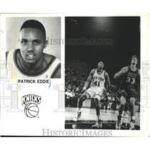 1992 Press Photo New York Knicks basketball player, Patrick Eddie - mjt06871