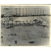 1957 Press Photo Aerial view of the Bayfront Park with first landscaping