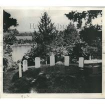 1952 Press Photo Shiloh National Military Park, 6 Civil War colorbearers buried