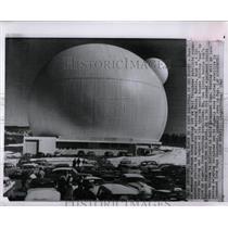 1962 Press Photo Bell Telephone satellite station Maine - RRW83227