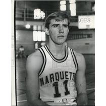 1967 Press Photo Marquette basketball player Bob Steber - mjt15264