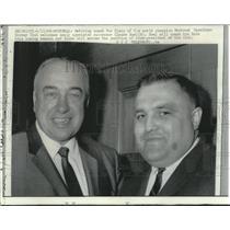 1968 Press Photo Montreal's retiring coach Toe Blake & replacement Claude Ruel