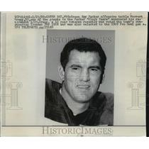1969 Press Photo Green Bay Packer football player Forrest Gregg to retire