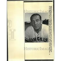 1971 Press Photo Del Ricer named new California Angels baseball team manager
