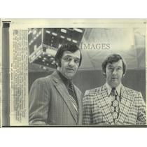 1973 Press Photo Atlanta Flames coach Bernie Geoffrion (L) and manager Fletcher.