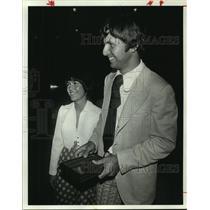 1974 Press Photo University of Houston diamond star Tommy Kaiser & Teresa Maurer