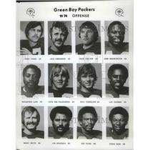 1974 Press Photo The 1974 Green Bay Packers football offensive players