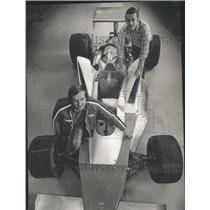 1974 Press Photo Dan Murphy of Racine with Ferrari he will drive in the Indy 500