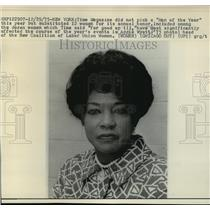 1975 Press Photo Head Of New Coalition Of Labor Union Women Addie Wyatt