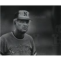 1976 Press Photo Richard Huxtable, Nicolet baseball coach - mjt12485