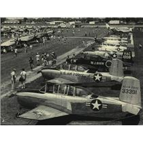 1983 Press Photo WWII planes at Experimental Aviation Association airshow, WI