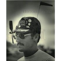 1984 Press Photo Experimental Aviation Association airshow fan Mike Westveer, WI