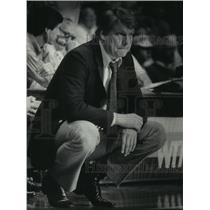 1984 Press Photo Don Nelson Milwaukee Bucks' Basketball Coach. - mjt11598