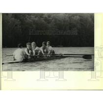 1986 Press Photo University of Wisconsin rowing team work out - mjc33722