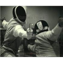 1990 Press Photo Jason Kerstein of University of Wisconsin-Madison Fencing Team